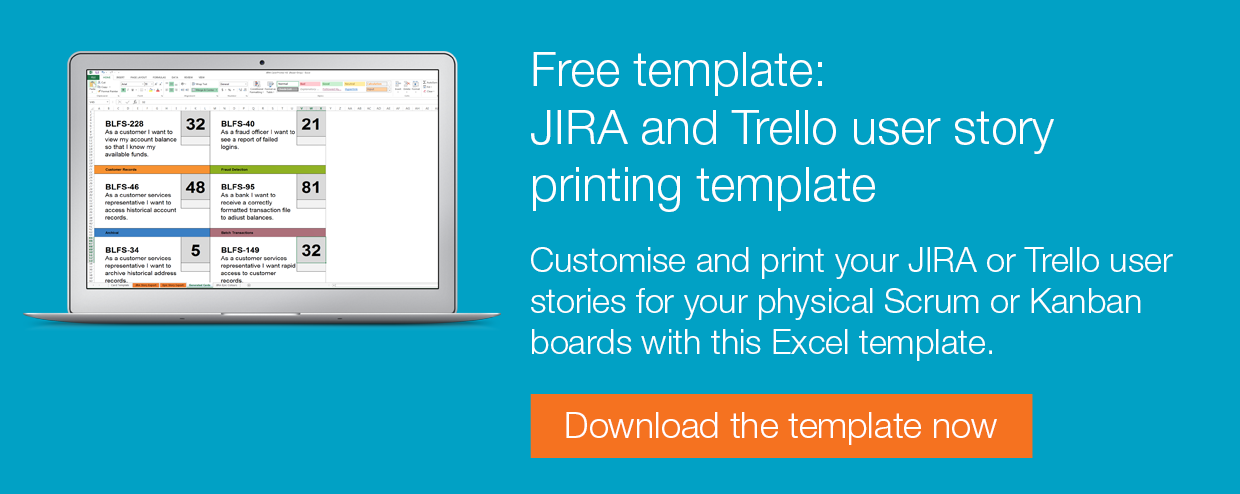Free Template JIRA And Trello User Stories Printing