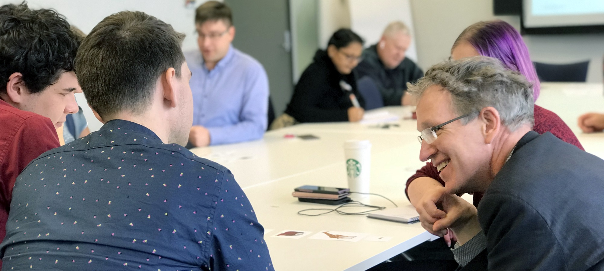 Michael Kane and the Equinox IT team participating in an Agile user stories workshop
