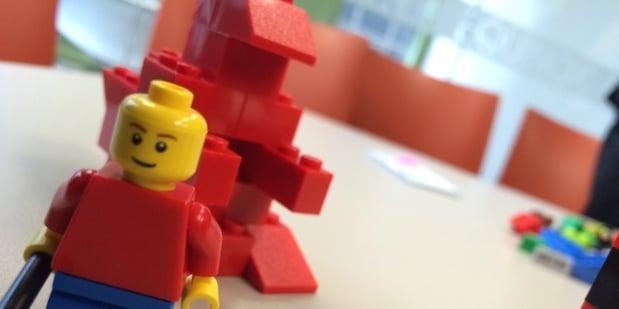 Lego agile project during agile development methods training course