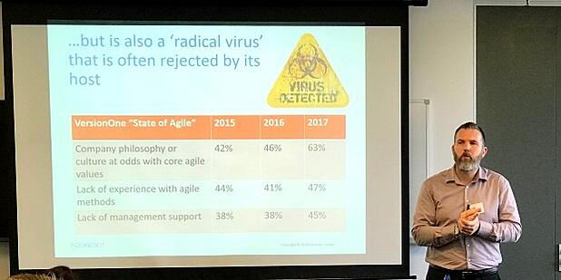 Agile is a radical virus that gets rejected by the host