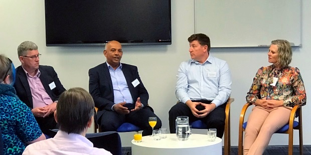 Channa Jayasinha sharing his ideas in the panel discussion with Chris Buxton, Richard Ashworth and Dianna Taylor