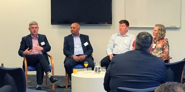 Chris Buxton sharing his perspective during the CIO panel discussion with Channa Jayasinha, Richard Ashworth and Dianna Taylor