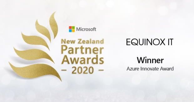 Equinox IT wins 'Azure Innovate Award' at Microsoft NZ Partner Awards