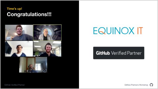 Equinox IT GitHub partner learning session