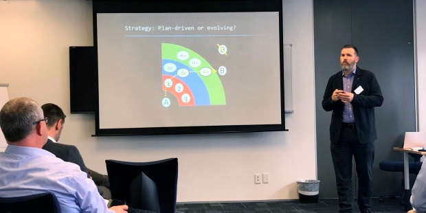 Equinox IT Principal Consultant Carl Weller presents on Agile Budgeting at the Projects and Agile Community of Practice on 24 October 2018