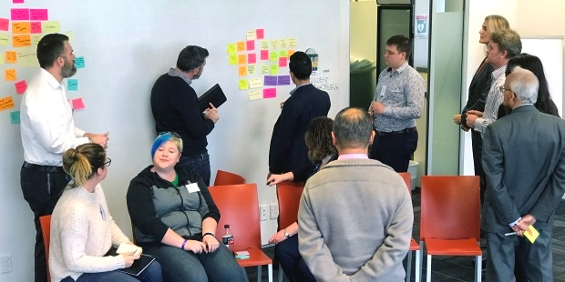 Lean Coffee voting at the Projects and Agile Community of Practice event