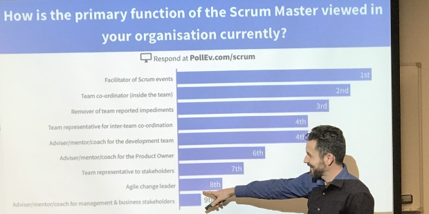 How is the primary function of he Scrum Master viewed in your organisation currently?