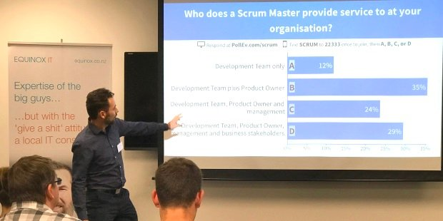 Who does a Scrum Master provide service to at your organisation?