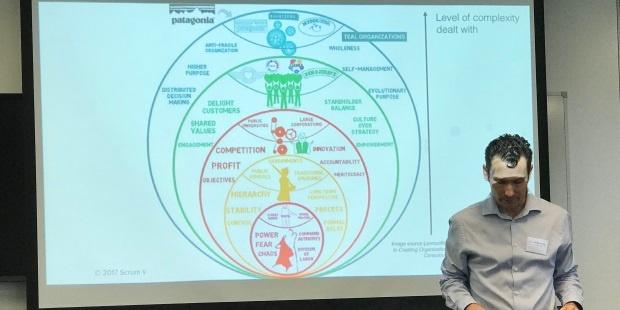 Rowan Bunning presents Frederic Laloux's organisational models