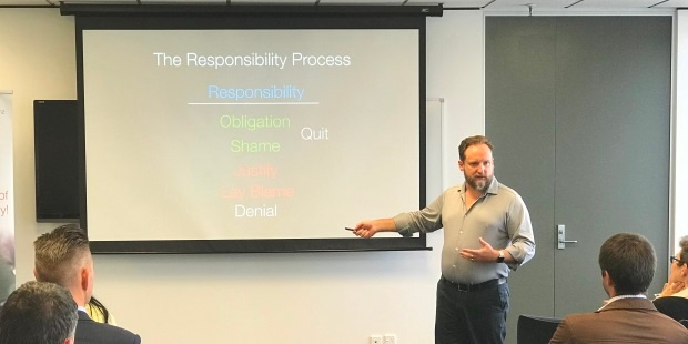 Simon Bennett presents on why the Responsibility Process is key to Agile success