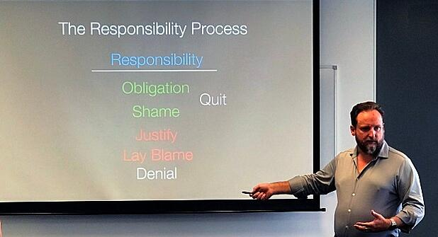 Simon Bennett discussing the Responsibility Process