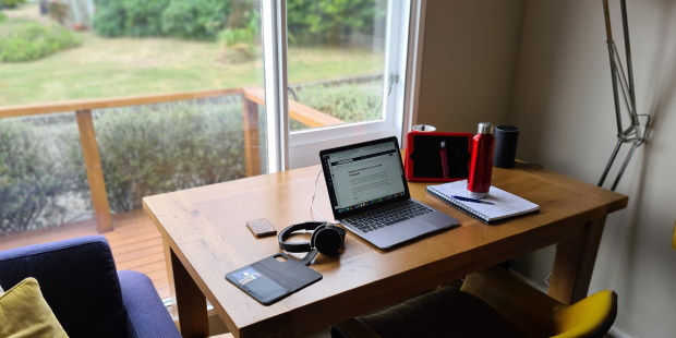 Kirstin Donaldson's work from home desk