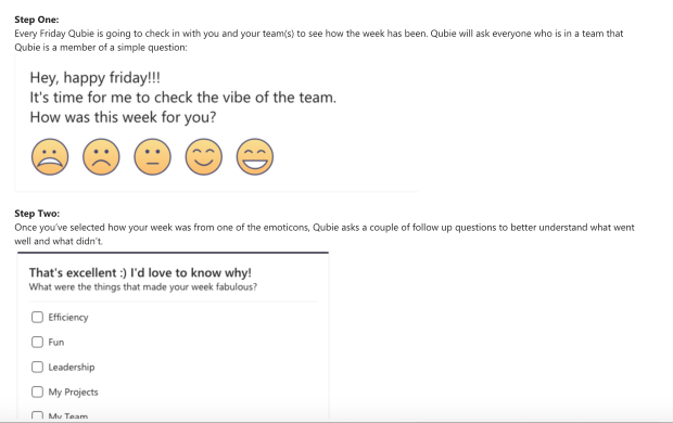 At Equinox IT we're experimenting with sentiment analysis using Qubie via Microsoft teams