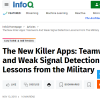 The New Killer Apps: Teamwork and Weak Signal Detection Lessons from the Military
