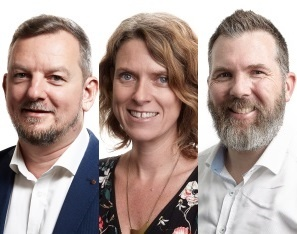 Julien Thomas, Kirstin Donaldson and Carl Weller - Equinox IT Principal Agile Consultants