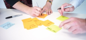 People working using Agile practices - create, integrate and platform your systems