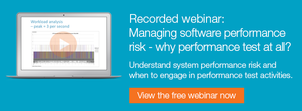 Free recorded webinar: Managing software performance risk - why performance test at all?