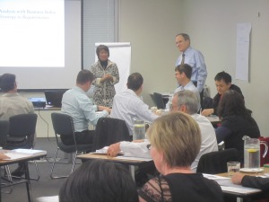 Ronald Ross and Gladys Lam of Business Rule Solutions delivering training with Equinox IT