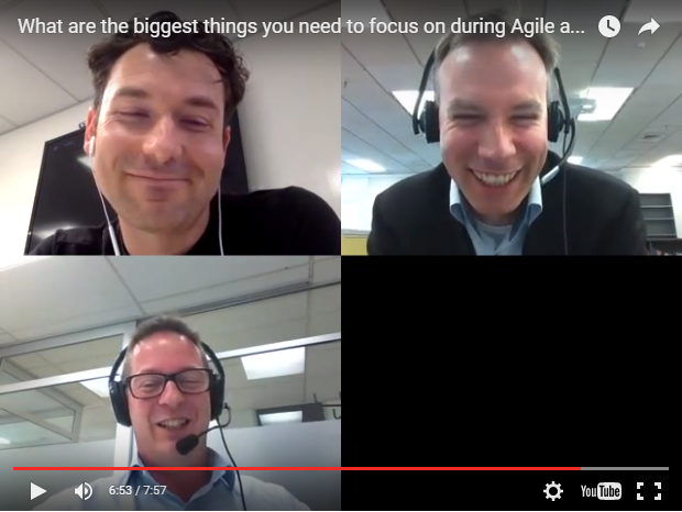 Blab: What are the biggest things you need to focus on during Agile adoption?
