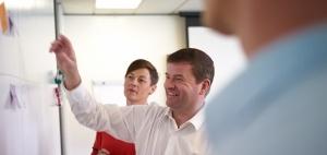 John Barris and Mindi Clews of Equinox IT training